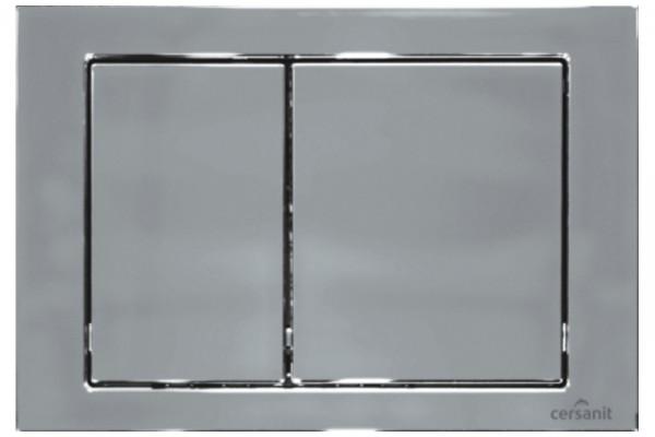 Кнопка смыва Cersanit Cube P-BU-CB/Cg, для инсталляции Hi-tec
