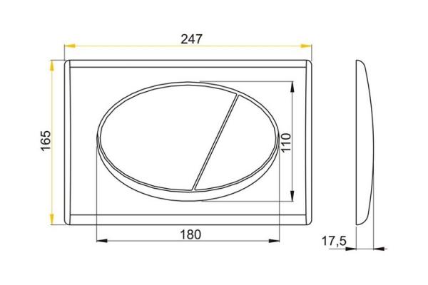 Кнопка смыва Alca Plast М071, механичская, хром