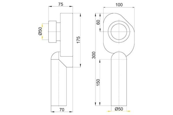 Cифон для писсуара вертикальный AlcaPlast А45C