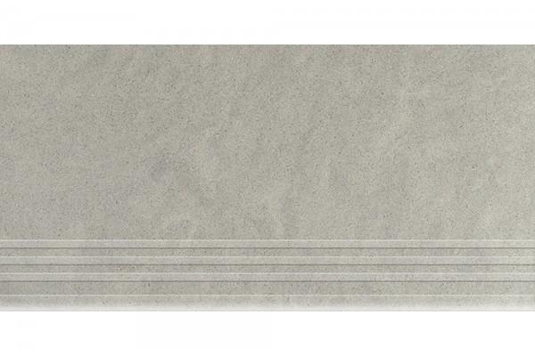Керамогранит Керамика Будущего Ступень Амба жемчуг матовый с насечками MR 60х30
