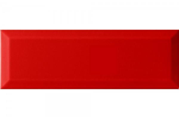 Плитка Monopole Rojo Brillo Bisel 10x30