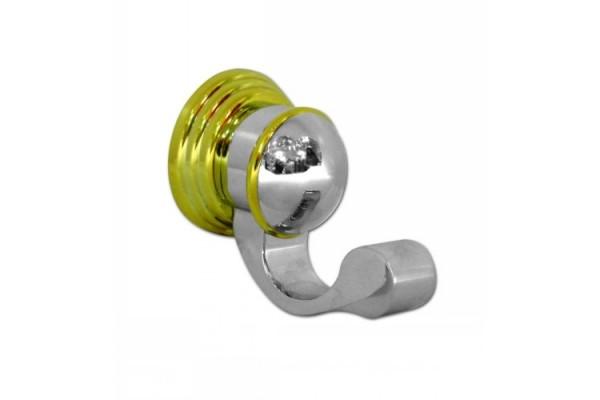 Крючок настенный ERIX, хром-золото