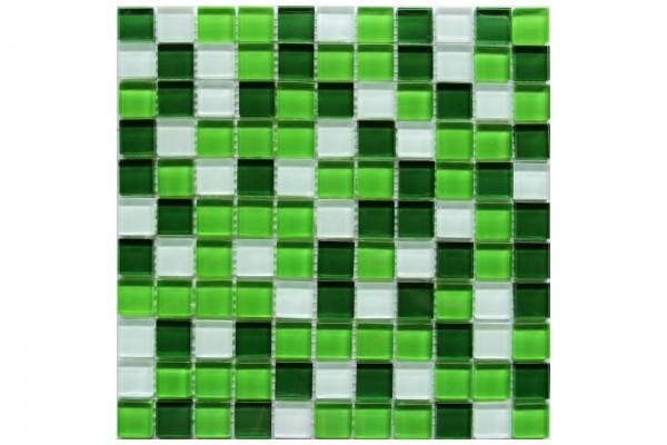 Мозаика стекло Crystal White Green 30x30x0,4(1,62)