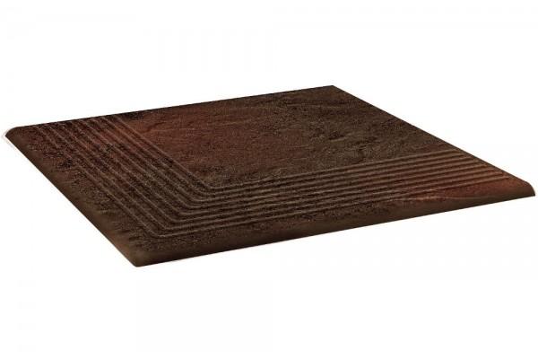 Ступень угловая Ceramika Paradyz Semir Brown stopnica narozna 30х30