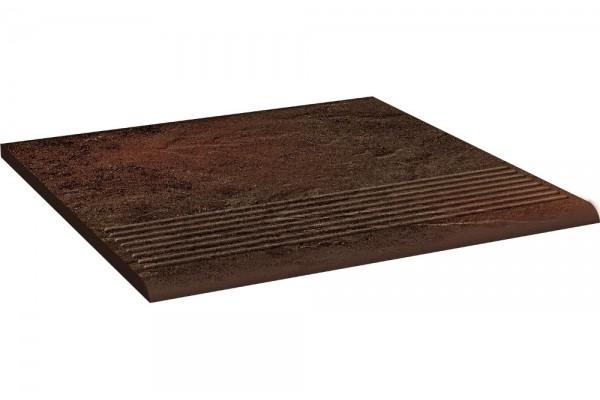 Ступень Ceramika Paradyz Semir Brown stopnica prosta 30х30