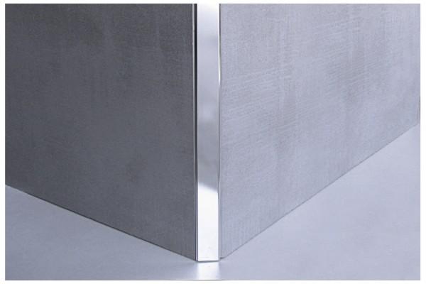 Профиль угловой д/плитки 10x2500 аллюм., хром.