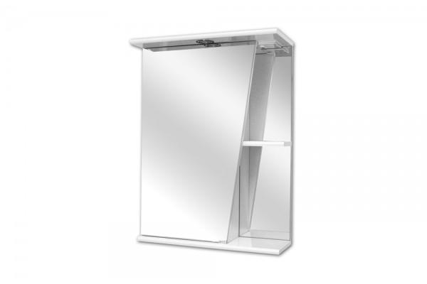 Зеркало-шкаф Lasko Астра-550, левый, с подсветкой
