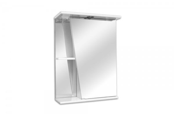 Зеркало-шкаф Lasko Астра-550, правый, с подсветкой