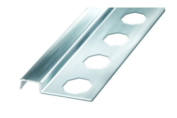 Профиль-бордюр д/плитки 10х2500, аллюм., хром