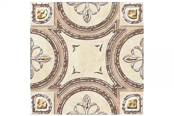 Нап. декор Carrara светло-бежевый 11х11