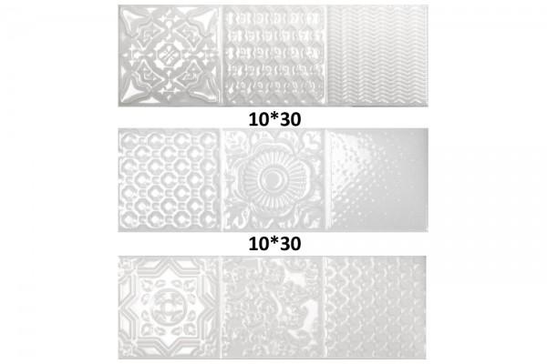 Плитка Esencia Relieve Blanco Brillo 10x30 (0,75)