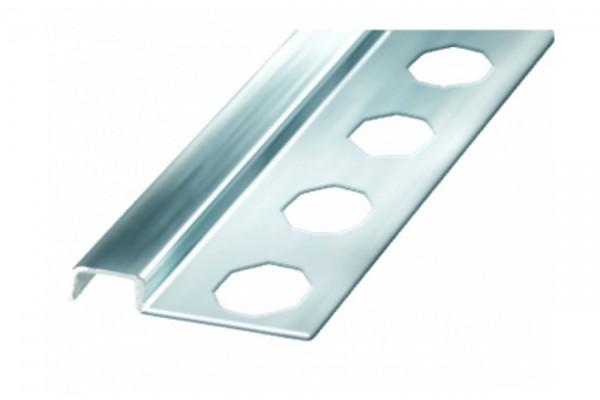 Профиль-бордюр д/плитки 10x12х2600, аллюм. хром