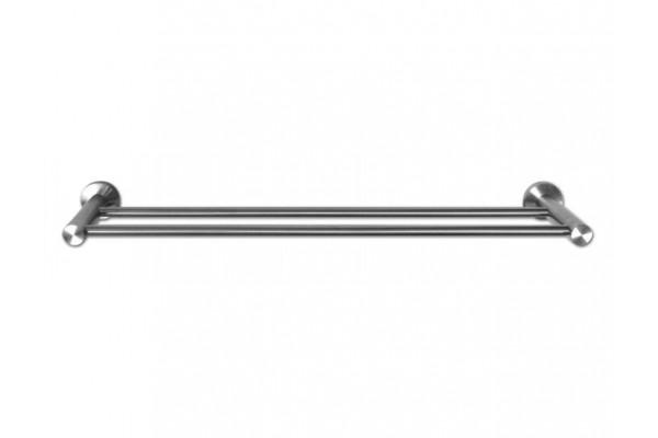 Полотенцедержатель двойной INOX, сталь