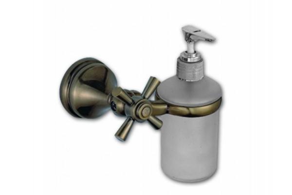 Дозатор для мыла с держателем DRAGO, бронза