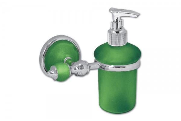 Дозатор для мыла с держателем IGUANA, зеленый