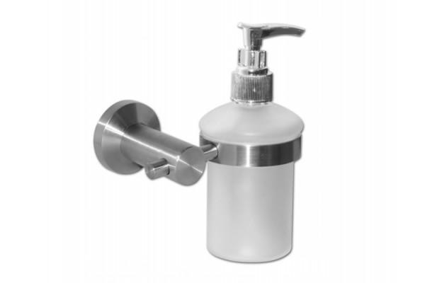 Дозатор для мыла с держателем INOX, сталь