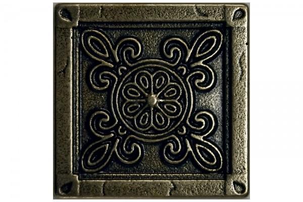 Металлическая плитка Camomile Bronze 5х5