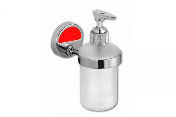 Дозатор для мыла с держателем CAMELEON, красный