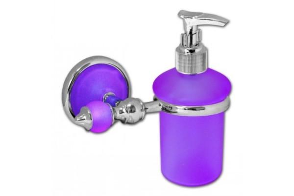 Дозатор для мыла с держателем IGUANA, сиреневый