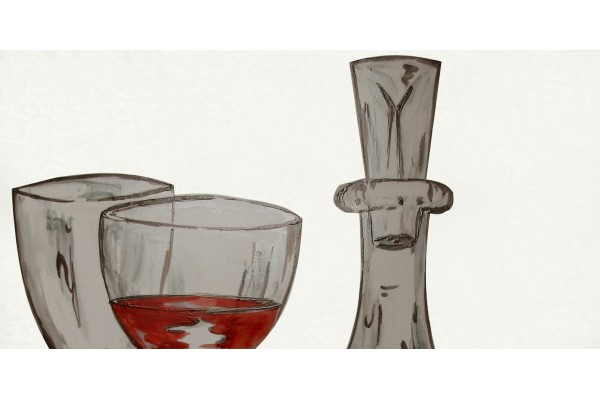 Декор Vino Bianco kieliszki 1 20x40 (2 ст.)
