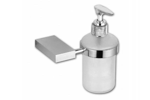 Дозатор для мыла с держателем LEZARDA, хром