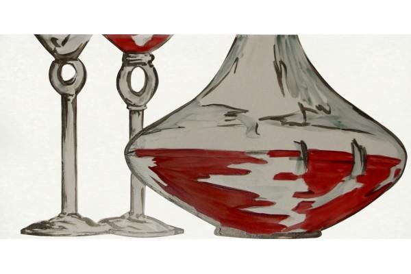 Декор Vino Bianco kieliszki 2 20x40 (2 ст.)
