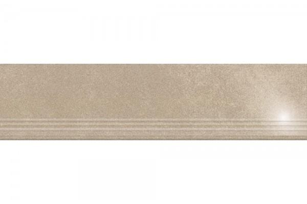 Ступень Керамика Будущего Кодру бежевый полированный с насечками PR120х30