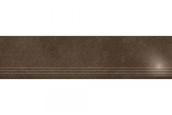 Ступень Керамика Будущего Кодру шоколад полированный с насечками PR120х30
