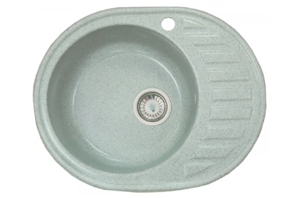 Мойка Альпина (Аврора) 600*480 мм, серый с сифоном