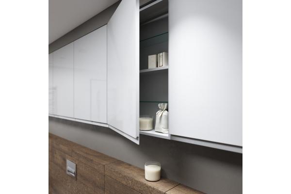 Шкаф навесной Cersanit Moduo 60, универсальный, белый