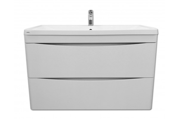 Тумба под раковину Alcora Luxury Atlantica 100, подвесная, белая