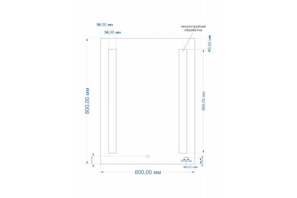 Зеркало Cersanit LED 020 base 60x80 с подсветкой