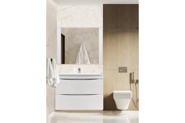 Зеркало Alcora Luxury 80, белое