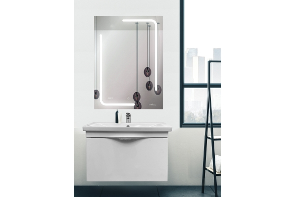 Зеркало Alcora Malaga Led 600x800 с часами