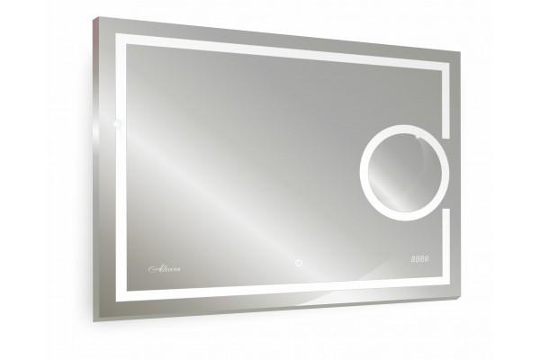 Зеркало Adra Led 800x600 часы