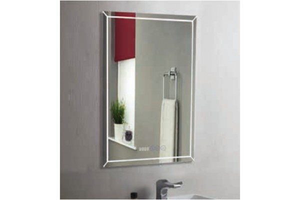 Зеркало Brisa Led 500x700 часы