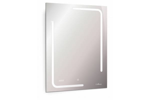 Зеркало Malaga Led 600x800 часы подогрев