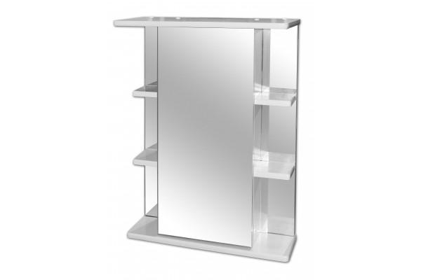 Зеркало-шкаф Lasko Кристалл-550, левый, с подсветкой