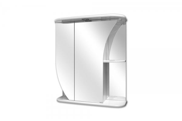 Зеркало-шкаф LaskoБелла-650, левый, с подсветкой