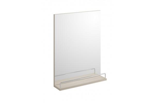 Зеркало Cersanit Smart с полочкой, без подсветки, акация