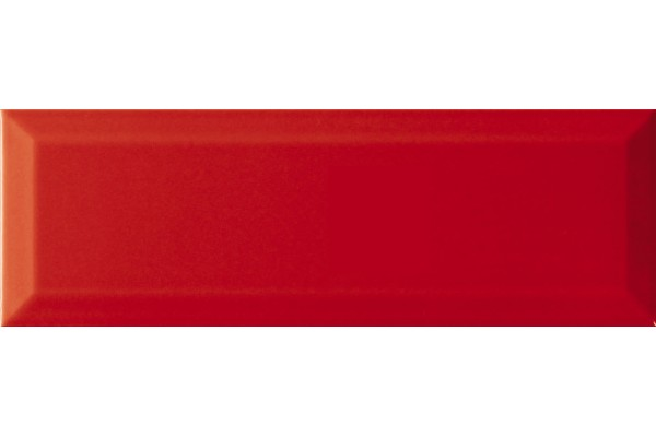 Плитка Rojo Brillo Bisel 10x30 (1,02) Fresh, Monopole