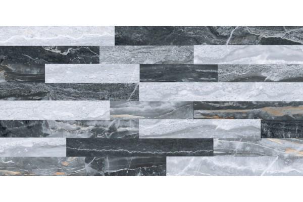 Керамогранит Vitra Bergamo 3D микс холодный декор 30x60