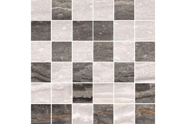 Керамогранит Vitra Bergamo мозаика микс теплая 30x30