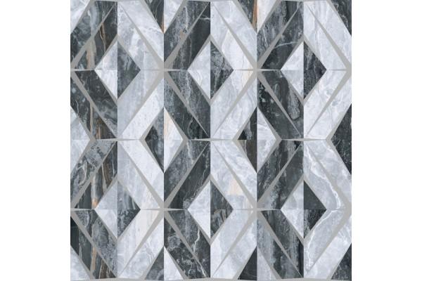Керамогранит Vitra Bergamo геомет микс декор холодный 60x60