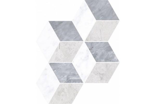 Декор Vitra Marmori микс холодный ромб 28,5x29,5