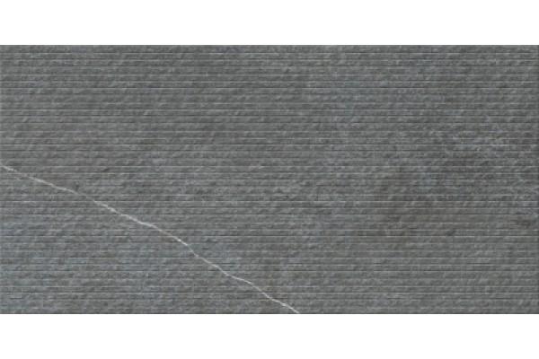 Керамогранит Vitra Napoli 3D дек антрацит 30x60