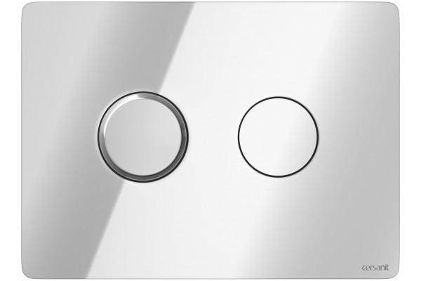 Кнопка смыва Cersanit Accento Circle BU-ACN-CIR/Cg, пневматическая, хром глянец