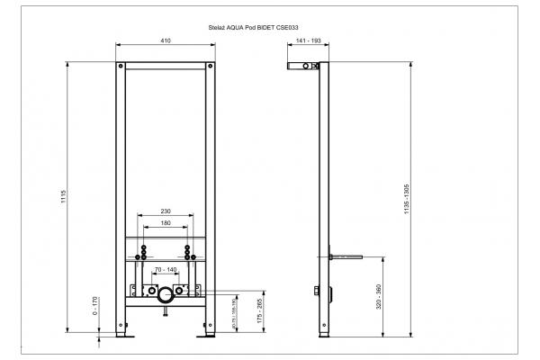 Инсталляция для биде Cersanit Aqua 63385, механическая