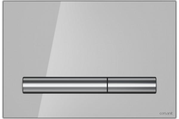 Кнопка смыва Cersanit Pilot BU-PIL/Grg/Gl, серый глянец
