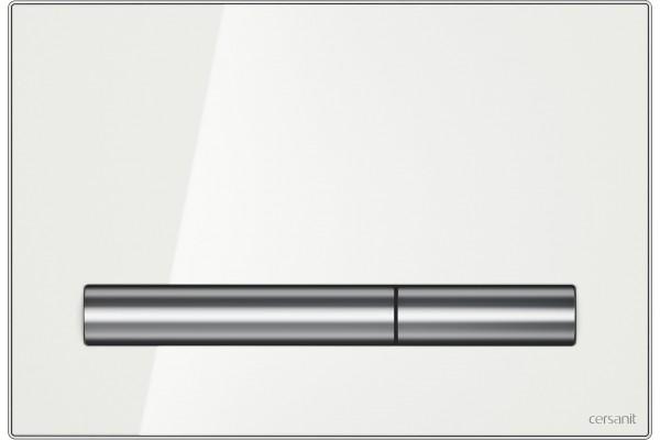 Кнопка смыва Cersanit Pilot BU-PIL/Whg/Gl, белый глянец